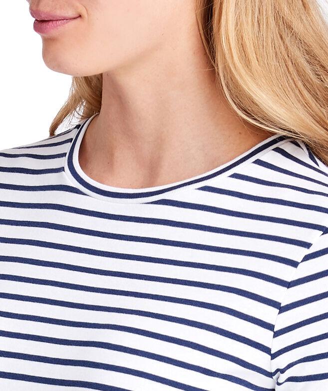 Striped Simple Crewneck Tee