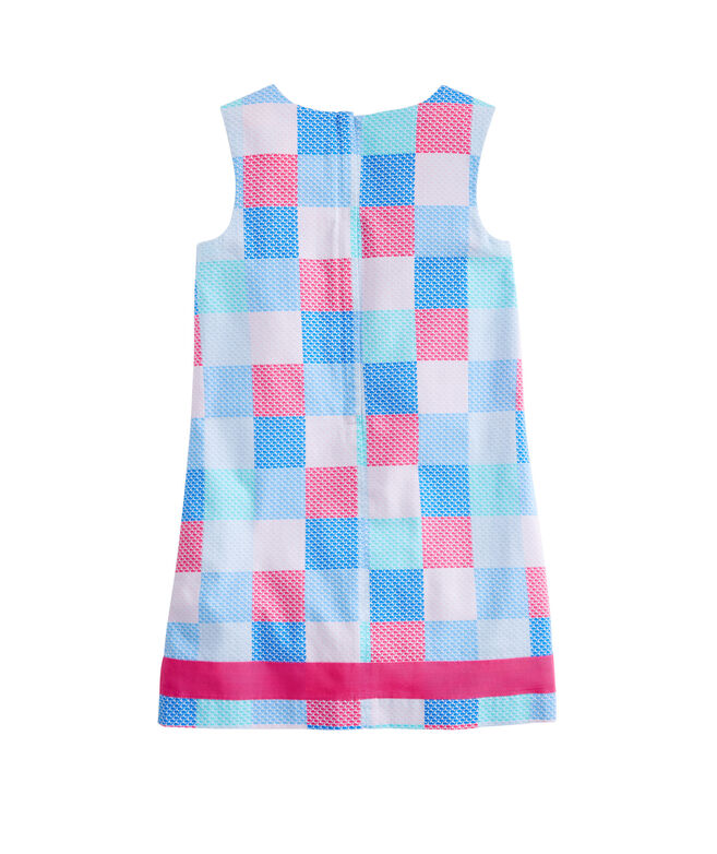 Girls Whale Patchwork Vineyard Shift Dress