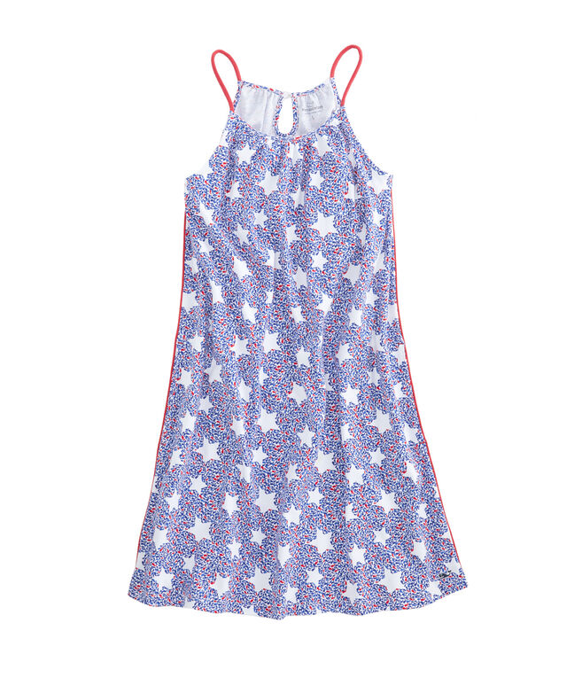 Girls Whale Star Knit Halter Dress