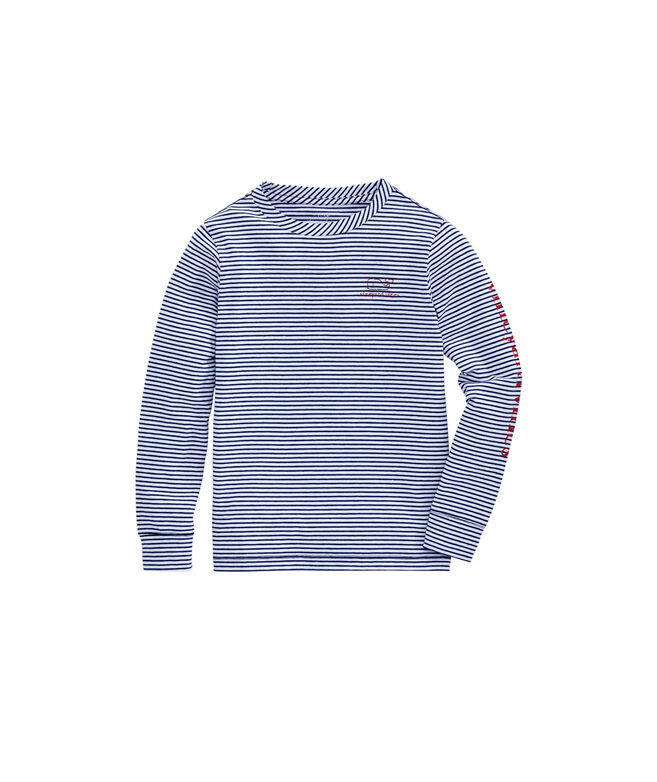 Boys Stripe Vintage Whale Long-Sleeve Edgartown T-Shirt