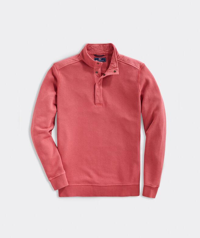 Shipwreck Garment-Dyed Snap Mockneck Pullover