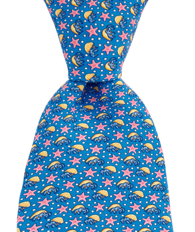 Hermit Crabs & Starfish Printed Tie