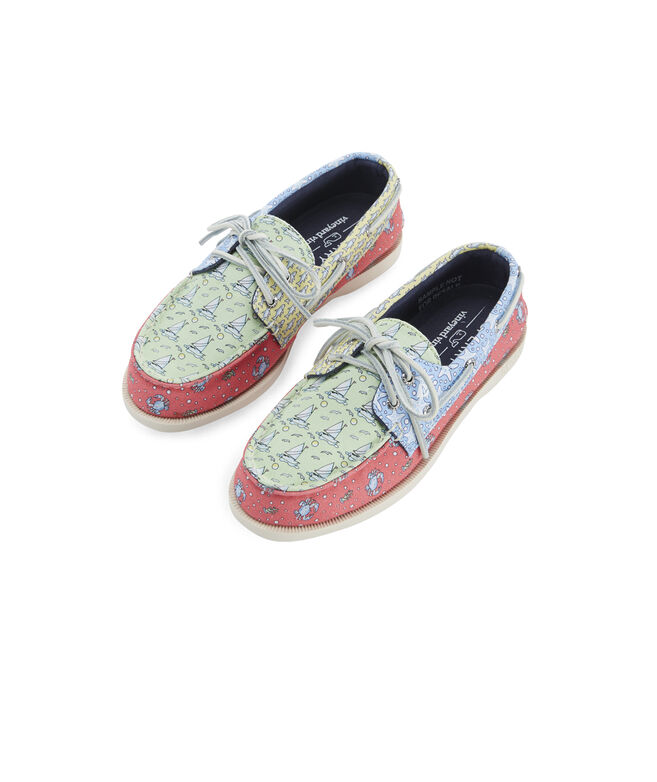 Big Kids Sperry x vineyard vines Heritage Patchwork Authentic Original Boat Shoe