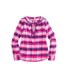 Girls Plaid Flannel Popover