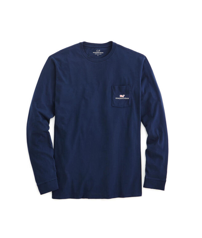 Long-Sleeve vineyard vines Logo Graphic Pocket T-Shirt