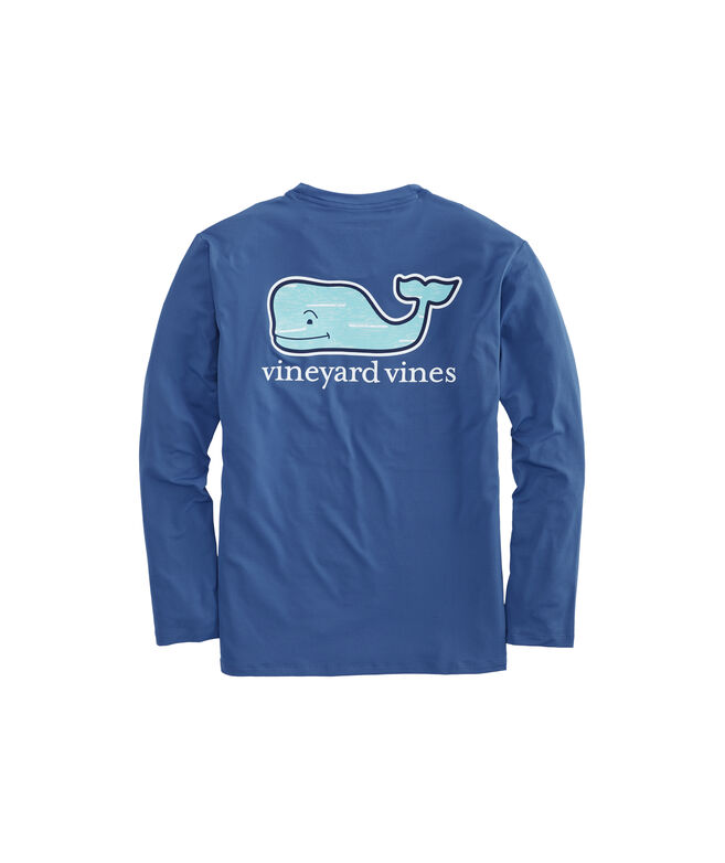 Long-Sleeve Performance Sportfisher Whale Fill T-Shirt