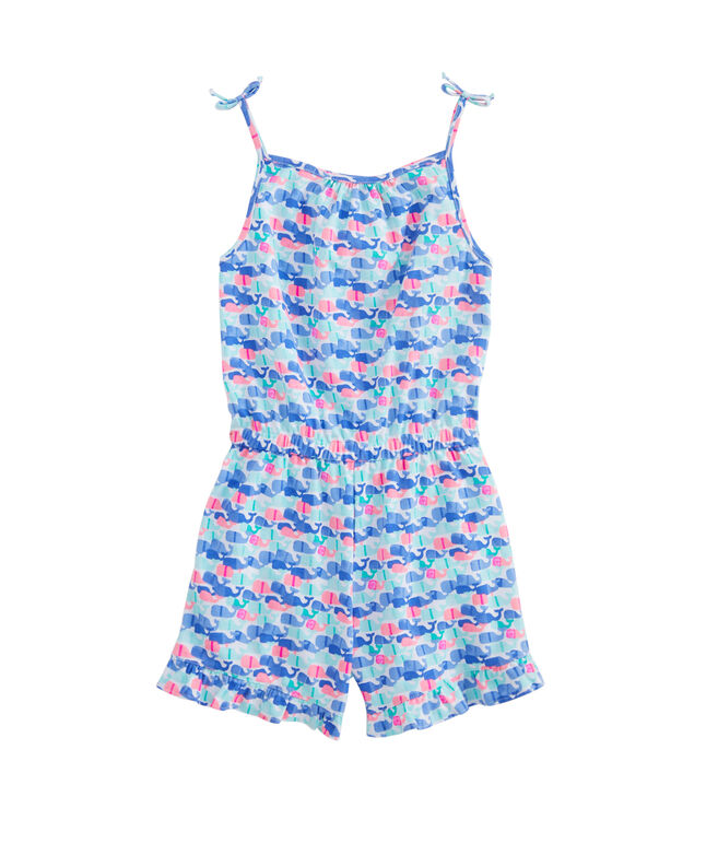 Girls Candy Whale Knit Romper