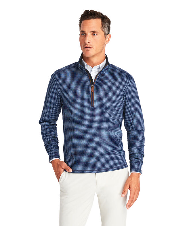 Pescadero Houndstooth Performance 1/2-Zip