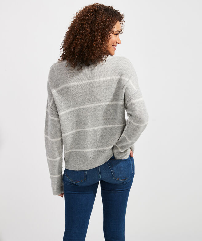 Striped Reversible Boatneck Sweater