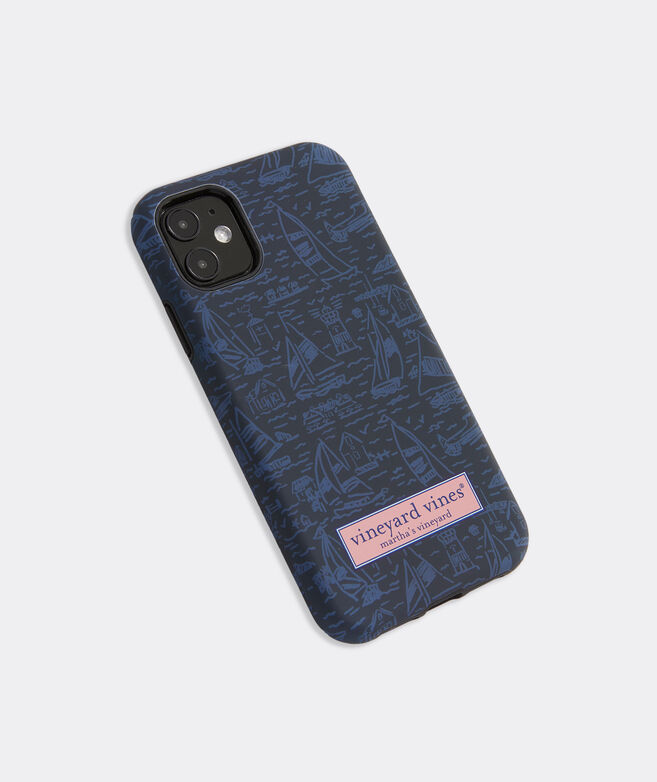 Tonal Scenic Print iPhone 11 Case