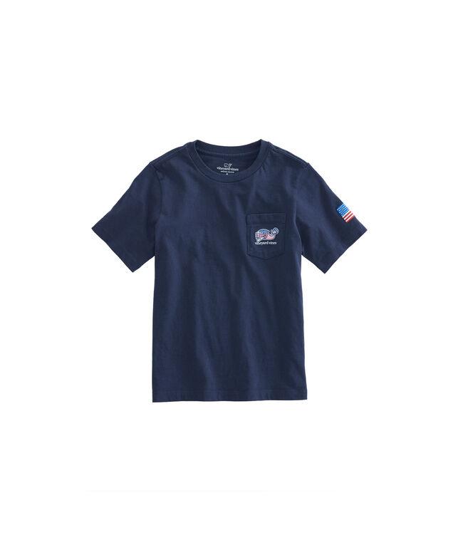 Boys Lax Bro Whale Pocket T-Shirt