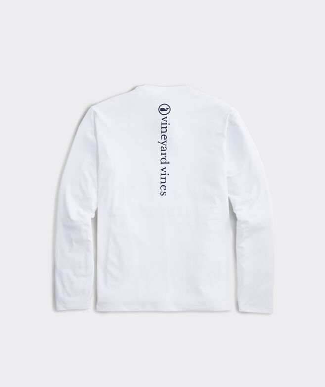 Whale Dot Long-Sleeve Performance Tee