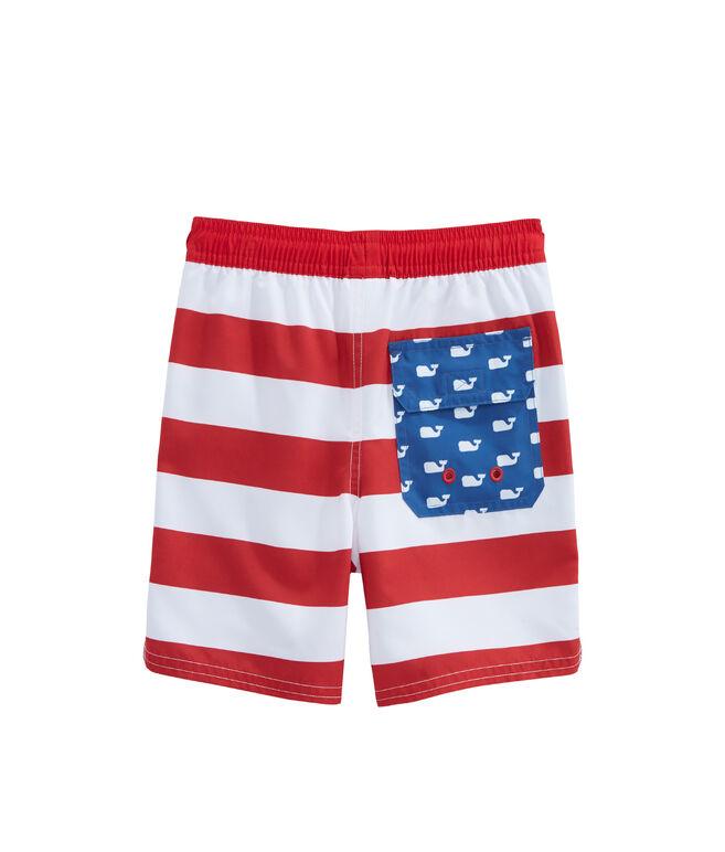 Boys USA Flag Chappy Trunks