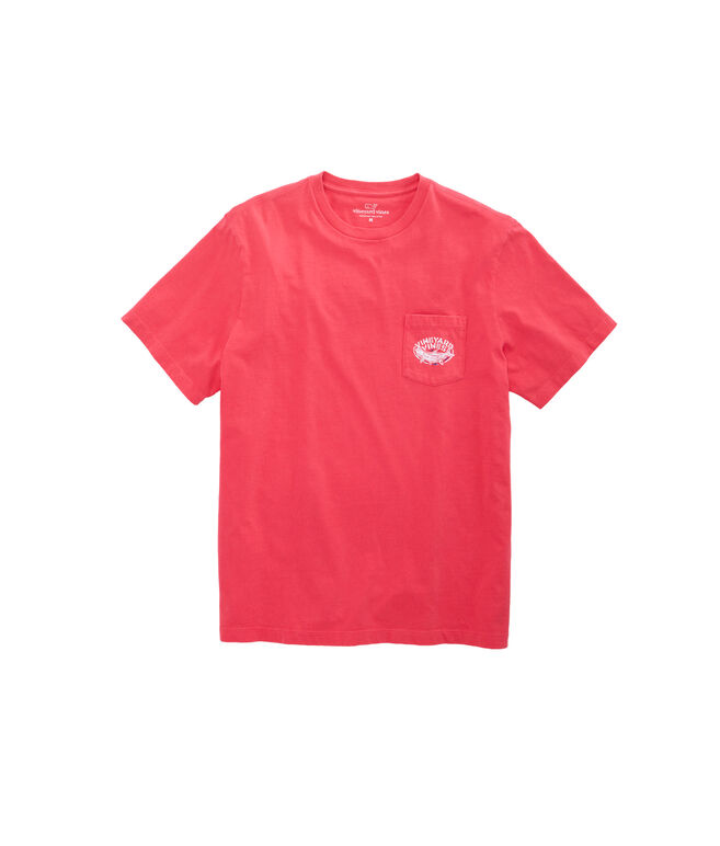 Short-Sleeve Pigment Dyed Tarpon Pocket T-Shirt