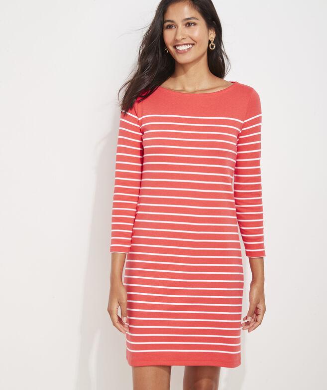 Striped Simple Boatneck Dress