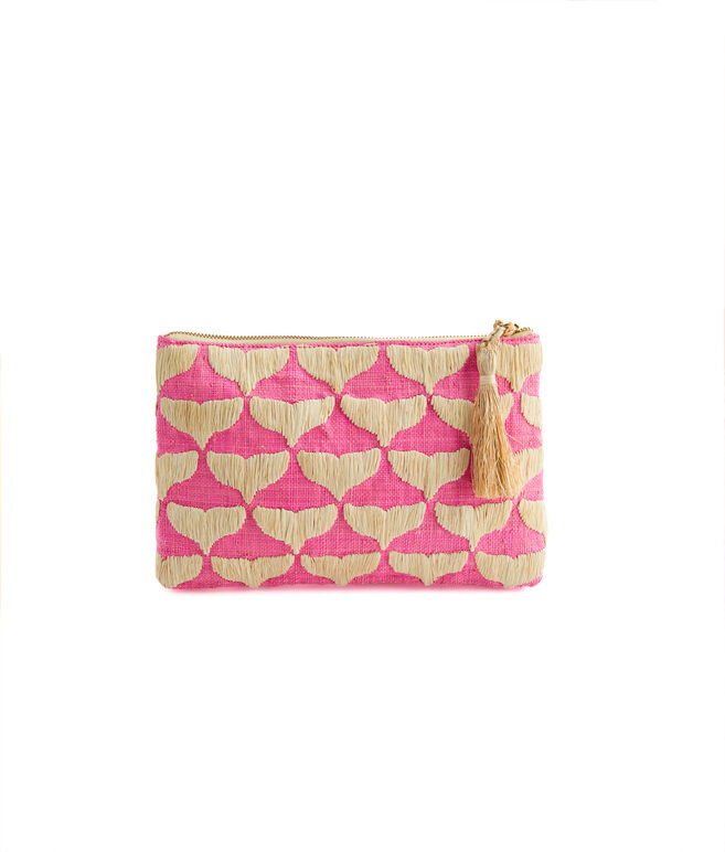 Kayu Whale Tail Print Straw Clutch