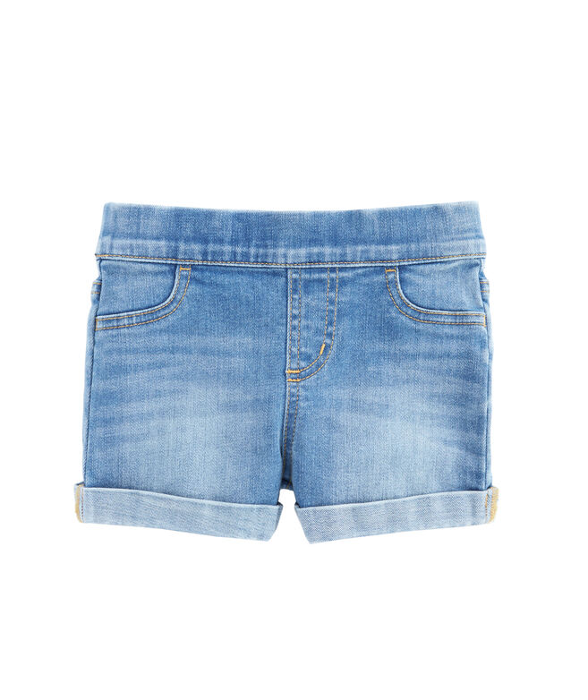 Girls Indigo Denim Pull-On Jegging Shorts