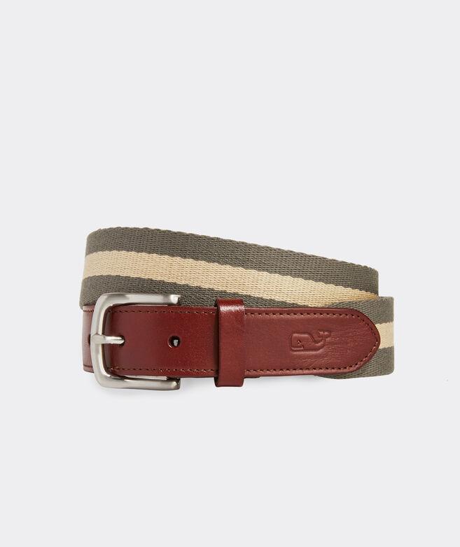 Striped Canvas Club Belt