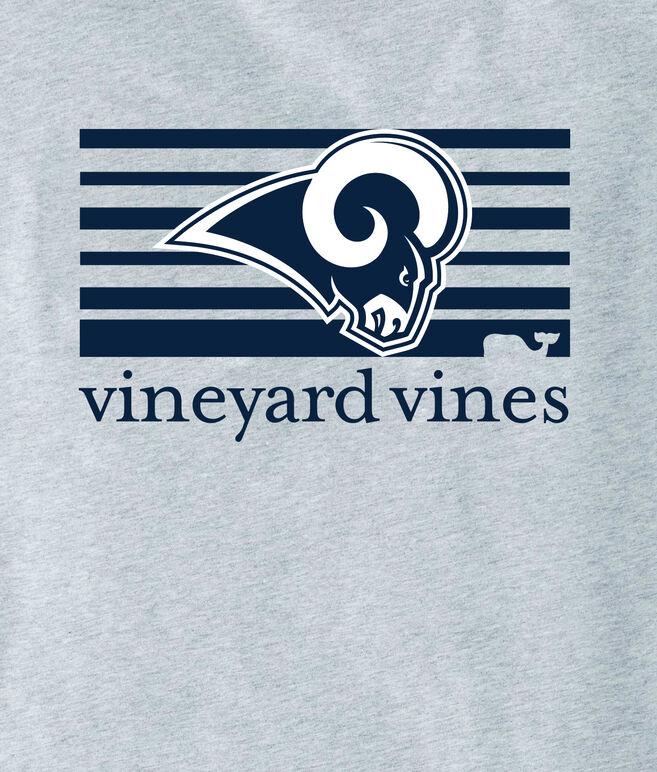 Adult Rams Long-Sleeve Block Stripe T-Shirt
