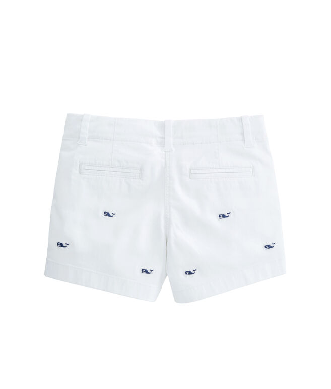 Girls Whale Embroidered Every Day Shorts