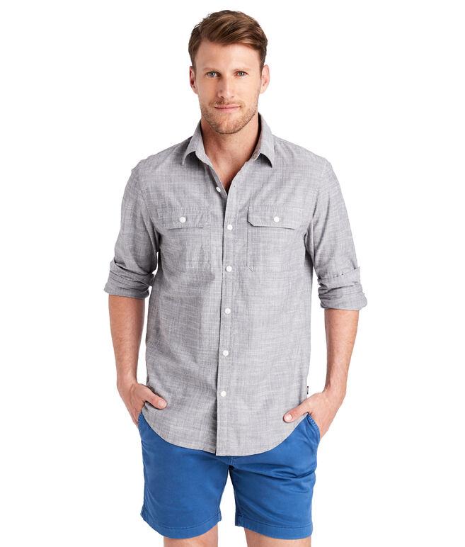 Sea Breeze Solid Slim Dockman Shirt