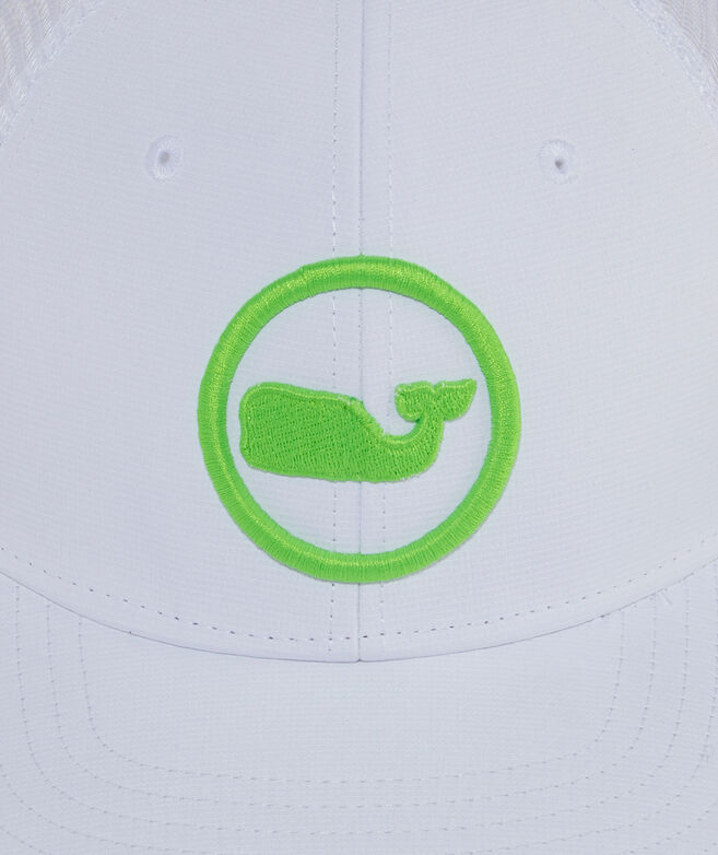 Neon Whale Dot Performance Trucker Hat