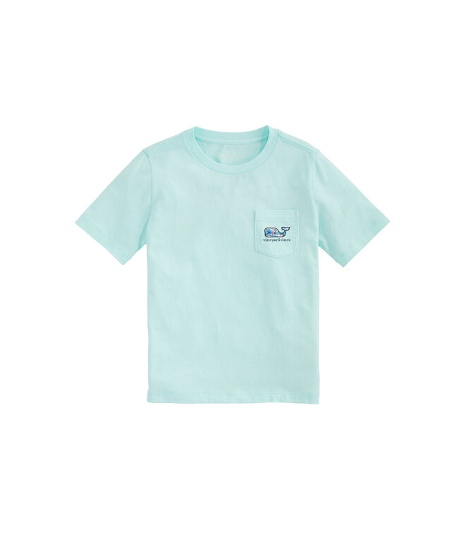Boys Tropical Boats Whale Fill Short-Sleeve Pocket Tee