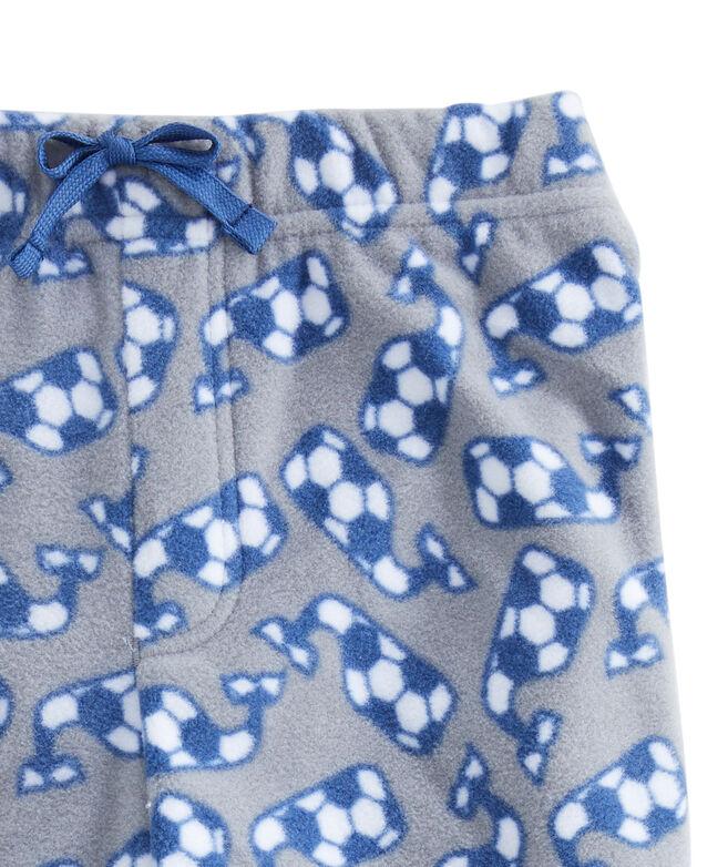 Boys Whale Fleece Pajama Pants