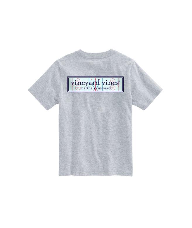 Boys Hockey Rink Logo Box Pocket T-Shirt