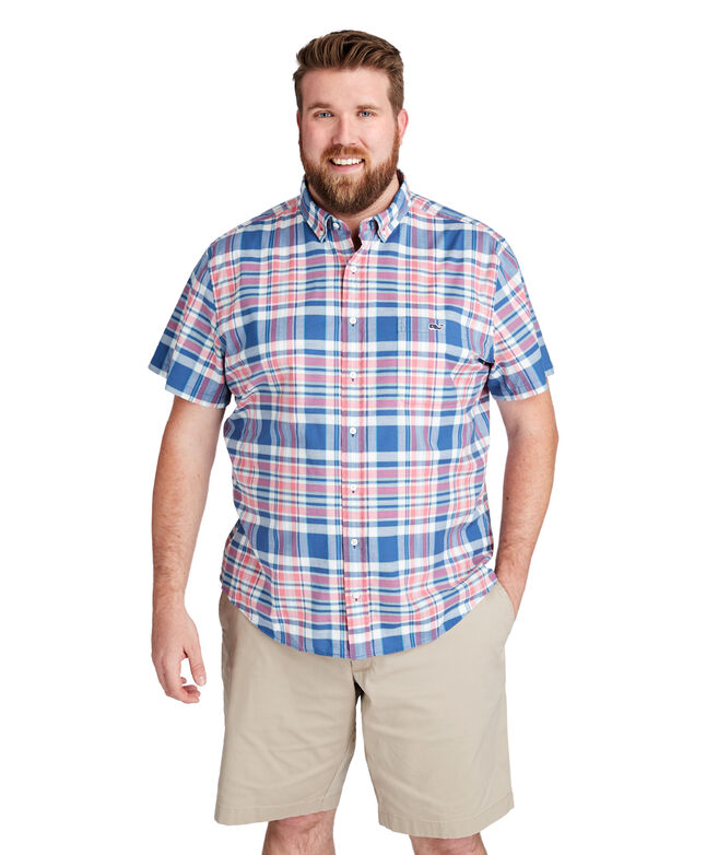 Freeport Plaid Short-Sleeve Classic Tucker Shirt