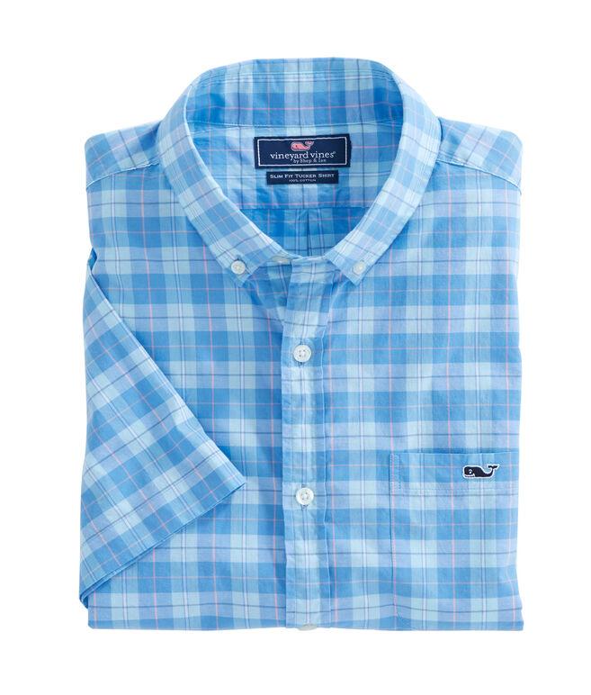 Short-Sleeve Jack Point Plaid Tucker Shirt