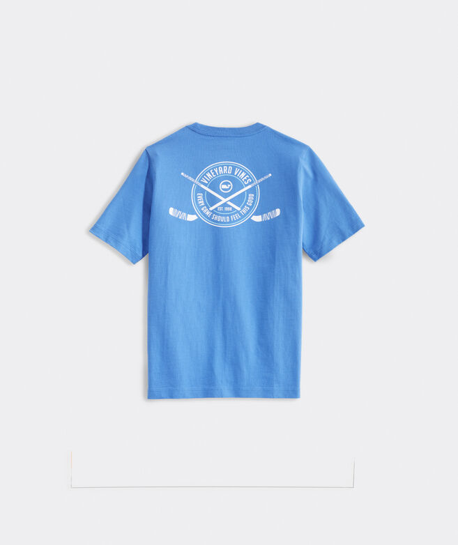 Boys' Hockey Crest Short-Sleeve Pocket Tee