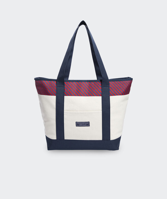 Cabana Stripe Cooler Tote Bag