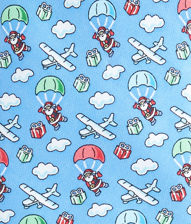 Boys Skydiving Santa Tie