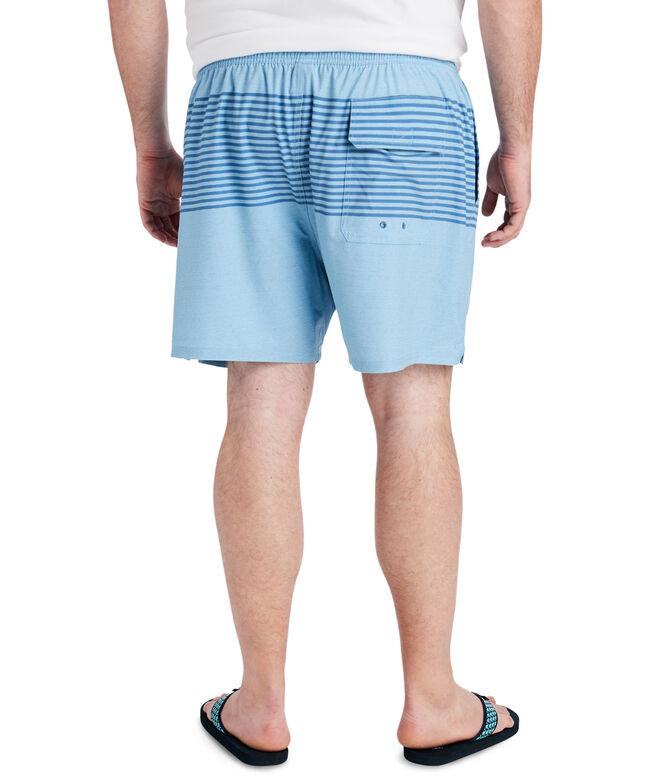 Big & Tall Heathered Stripe Chappy Trunks
