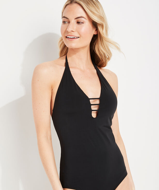 Halter Open-Back One-Piece
