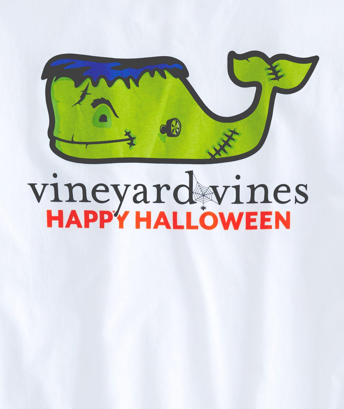 Shop Long Sleeve Frankenstein Whale Pocket T Shirt At