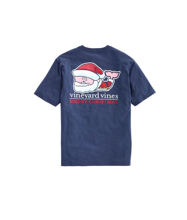 Santa Whale Pocket T-Shirt