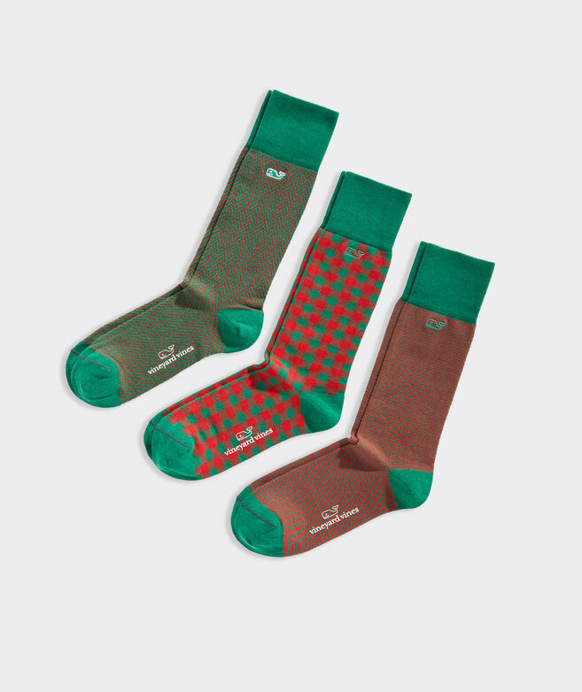 Patterned 3-Pack Socks