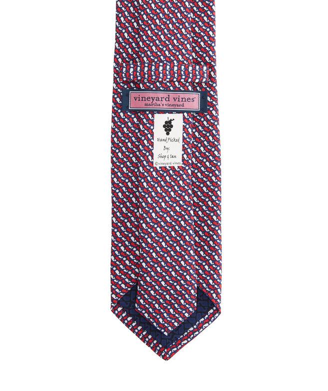 Whale Stars & Stripes Printed Tie