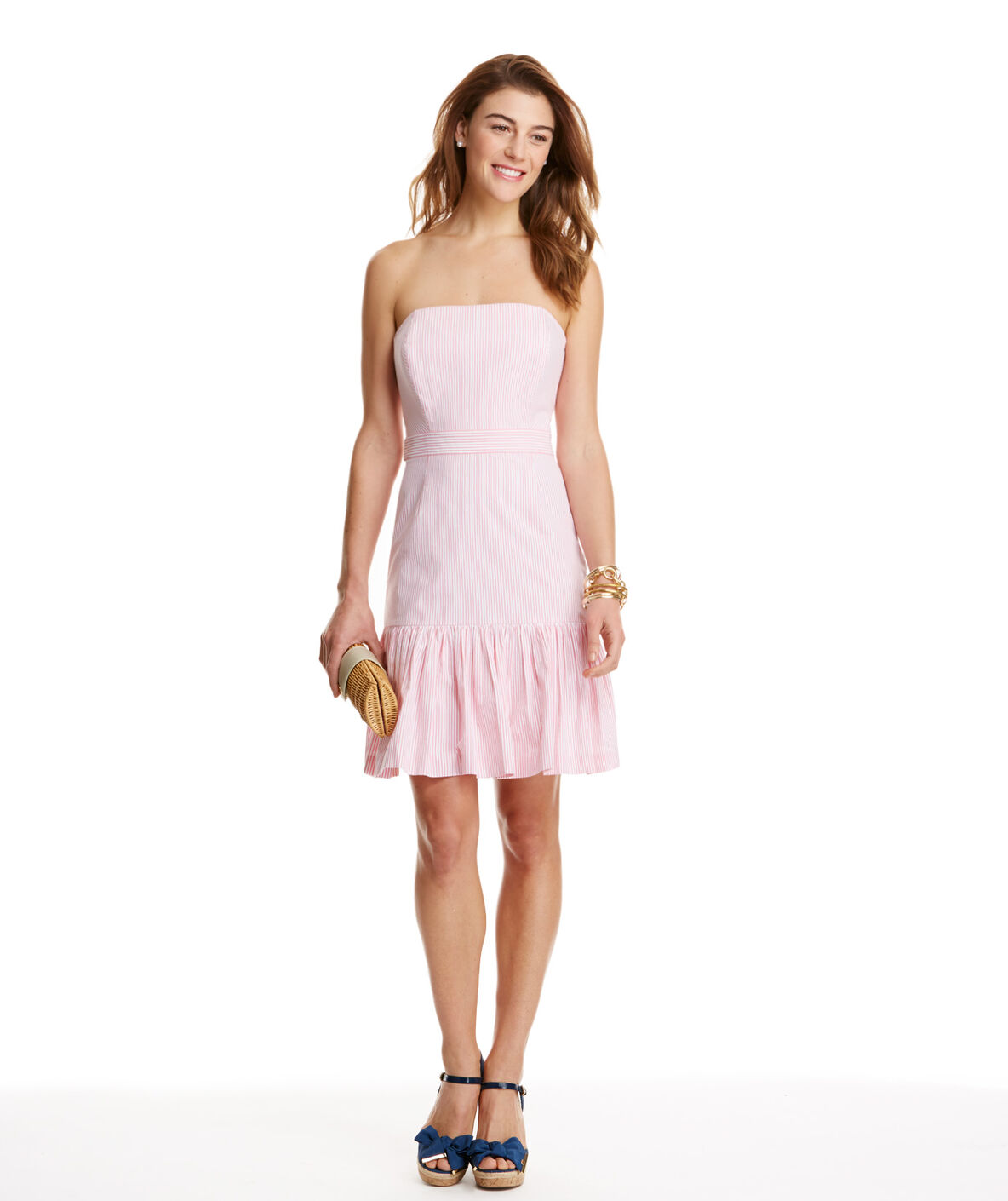 Shop Seersucker Strapless Dress at vineyard vines