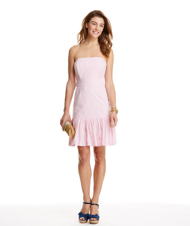 Shop Seersucker Strapless Dress at vineyard vines