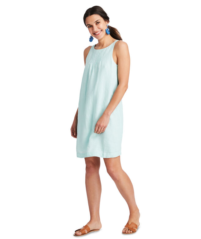 Linen Pintuck Cisco Swing Dress
