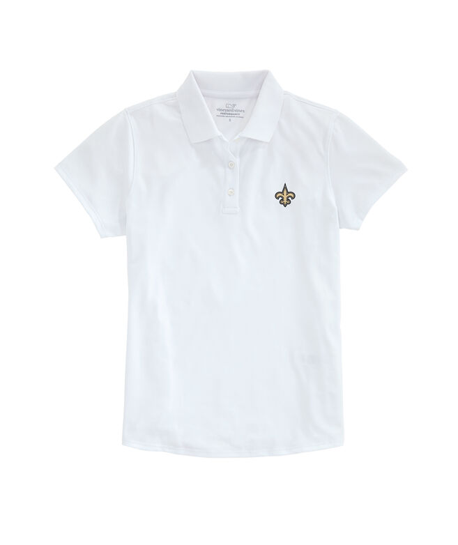 New Orleans Saints Womens Performance Pique Stretch Polo