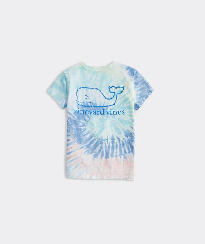 Girls' Tie-Dye Swirl Vintage Whale Short-Sleeve Pocket Tee