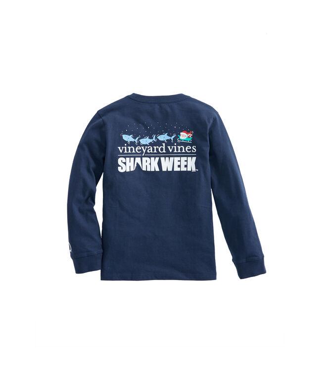 Kids Long-Sleeve Shark Week Santa Whale Rudolph T-Shirt