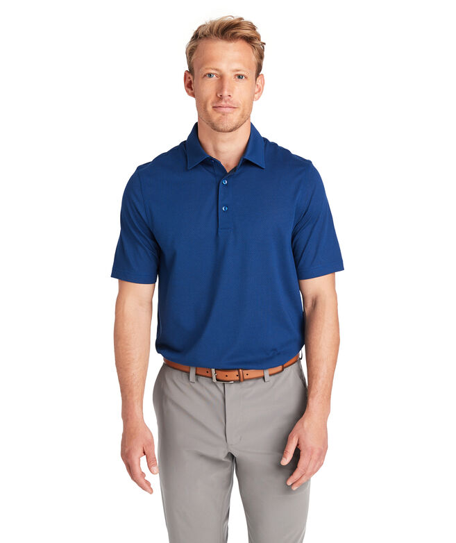 Carmel Pebble Print Polo