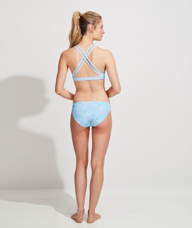 Bahamas Scene Reversible Bikini Bottom