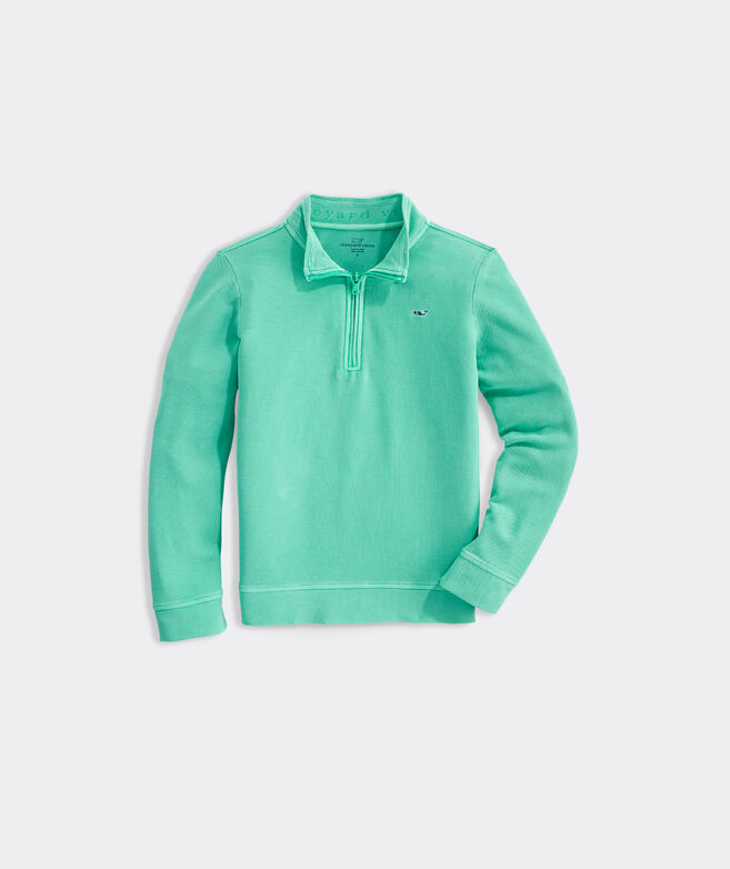Boys' Garment-Dyed Saltwater 1/2-Zip Pullover