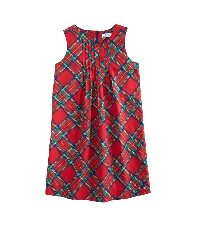 56c11410ee Girls Jolly Plaid Holiday Dress (8-16)